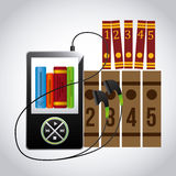 Audio books technology Royalty Free Stock Images