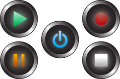 Audio-Butons Stockfoto