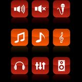 Audio Buttons. Royalty Free Stock Photography