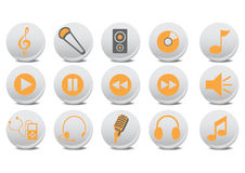 Audio buttons Royalty Free Stock Photo