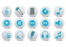 Audio buttons stock illustration