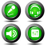 Audio buttons Royalty Free Stock Photos