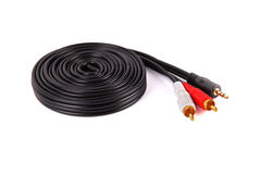 Audio cable stock photography
