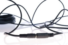 Audio cable Royalty Free Stock Images