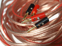 Audio cable Royalty Free Stock Photos