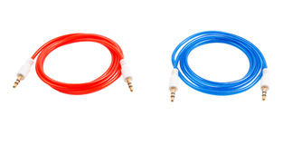 Audio cable Jack color on a Stock Photography