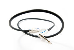 Audio cable (jack-jack) Royalty Free Stock Photography
