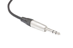 Audio cable jack, Microphone jack Stock Image