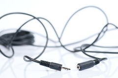 Audio cable, mini jack Stock Images