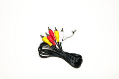 Audio cable network audio. Audio RCA Cable for network audio and video Stock Photography