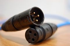 Audio cable plugs Royalty Free Stock Image