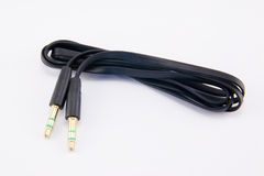 Audio cable  on white Stock Image