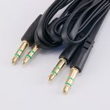Audio cable  on white Royalty Free Stock Photo