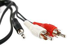 Audio cables Royalty Free Stock Image