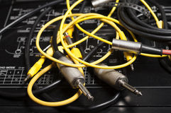 Audio Cables Royalty Free Stock Photography
