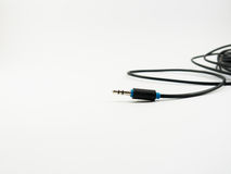 Audio cables on white background Stock Images