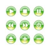 Audio calce delle icone Immagine Stock