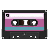 Audio Cassete over white Royalty Free Stock Photography