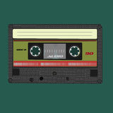 Audio cassete. Vector illustration. Isolated on Royalty Free Stock Image