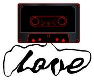Audio cassetta svolta di amore Fotografia Stock