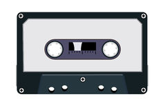 AUDIO-CASSETTE. Vector scene audio on white background Stock Photography