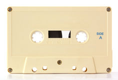 Audio cassette. Isolated on white background Stock Photo