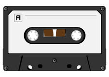 Audio cassette. The  image of an audio cassette close up Royalty Free Stock Photos