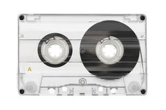 Audio cassette. Isolated on white background stock images