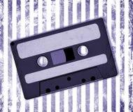 Audio Cassette. Retro Audio Cassette Tape on grunge royalty free illustration