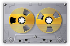 Audio Cassette. Realistic audio cassette in transparent case Stock Images