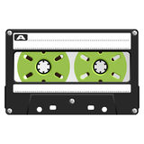 Audio Cassette black transparent Royalty Free Stock Photos