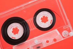 A Audio Cassette. Audio Cassette close up shot royalty free stock photo