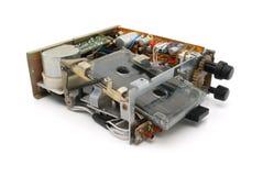 Audio cassette deck. Automotive cassette deck on a white background stock image