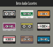Audio cassette. Flat tapes Stock Photos