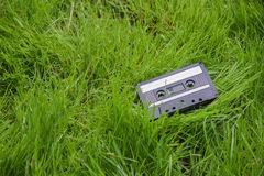 Audio cassette in the grass Stock Images