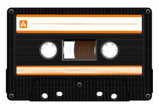 Audio Cassette Icon. Black Audio Cassette Icon. Realistic Vector Illustration Royalty Free Stock Images