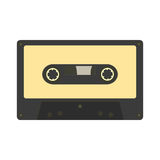 Audio cassette icon. Retro music gadget from 21-st century. Old Stock Photos