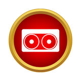 Audio cassette icon, simple style Stock Photography