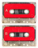 Audio cassette isolated Royalty Free Stock Photos