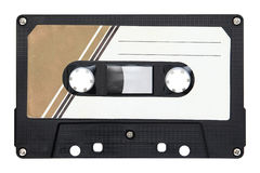 Audio cassette isolated on background Stock Photos