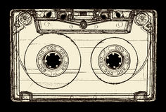 Audio cassette isolated on black Stock Photo