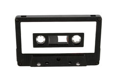 Audio cassette and label isolated Stock Photography
