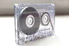 Audio Cassette. Magnetic tape from a cassette recorder Royalty Free Stock Images