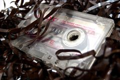 Audio cassette met band Stock Foto's