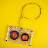Audio cassette met band royalty-vrije stock afbeelding