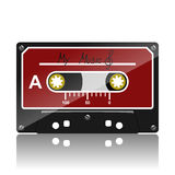 Audio cassette-My Music. Illustration of musical audio cassettes on a white background royalty free illustration