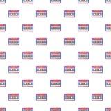 Audio cassette pattern, cartoon style. Audio cassette pattern. Cartoon illustration of audio cassette pattern for web Royalty Free Illustration