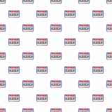 Audio cassette pattern, cartoon style Stock Image