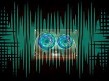 Audio cassette per il registratore Immagine Stock