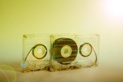 Audio cassette per il registratore Immagini Stock